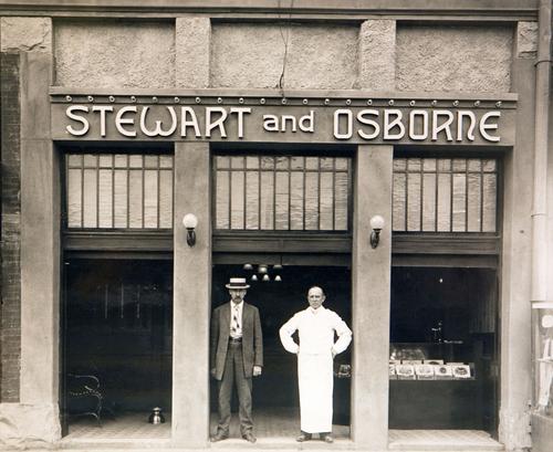 Photo Courtesy Utah Historical Society  Stewart and Osborne Saloon at 13 E. 200 South in Salt Lake City, 1909.