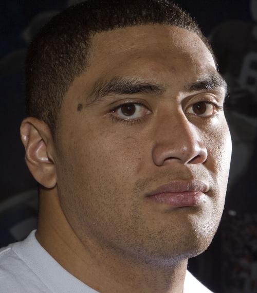 Keith Johnson | The Salt Lake Tribune   BYU defensive tackle Eathyn Manumaleuna, October 14, 2013 in Provo, Utah.