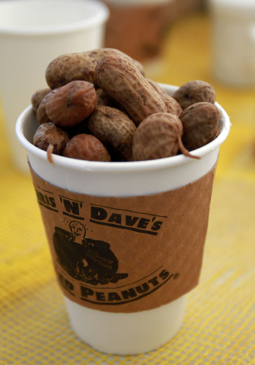 Keith Johnson | The Salt Lake Tribune   Boiled peanuts at the Chris and Dave's stand at the farmer's market at Pioneer Park in Salt Lake City, October 12, 2013.