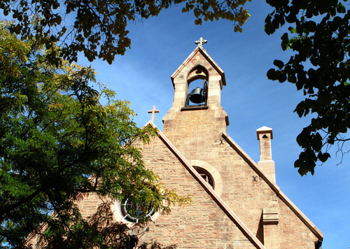 Keith Johnson | The Salt Lake Tribune   St. Mark's Episcopal Church in Salt Lake City, October 8, 2013. Construction of the Episcopal church in Salt Lake started in 1870 and was completed in 1874. At the time of its completion, it was said that it could accommodate all of the Episcopalians west of the Mississippi river.