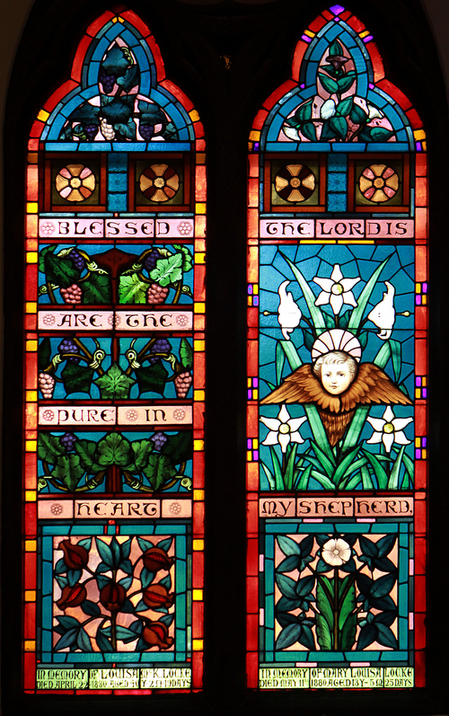 Keith Johnson | The Salt Lake Tribune   One of the many stained glass windows in St. Mark's Episcopal Church in Salt Lake City, October 8, 2013. Some of the windows are made by Tiffany. Construction of the Episcopal church in Salt Lake started in 1870 and was completed in 1874. At the time of its completion, it was said that it could accommodate all of the Episcopalians west of the Mississippi river.
