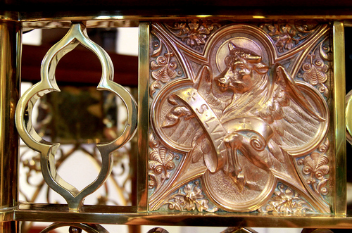 Keith Johnson | The Salt Lake Tribune   Ornate metal work on the interior of St. Mark's Episcopal Church, October 8, 2013 in Salt Lake City. Construction of the Episcopal church in Salt Lake started in 1870 and was completed in 1874. At the time of its completion, it was said that it could accommodate all of the Episcopalians west of the Mississippi river.