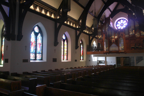 Keith Johnson | The Salt Lake Tribune   The interior of St. Mark's Episcopal Church in Salt Lake City is in the Gothic revival style. Construction of the Episcopal church in Salt Lake started in 1870 and was completed in 1874. At the time of its completion, it was said that it could accommodate all of the Episcopalians west of the Mississippi river.