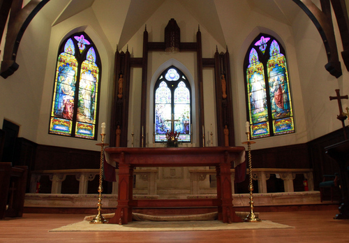 Keith Johnson | The Salt Lake Tribune   The chancel at St. Mark's Episcopal Church, October 8, 2013 in Salt Lake City. Construction of the Episcopal church in Salt Lake started in 1870 and was completed in 1874. At the time of its completion, it was said that it could accommodate all of the Episcopalians west of the Mississippi river.