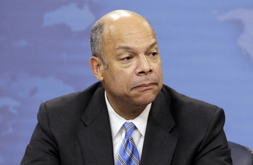 FILE - In this Nov. 30, 2010, file photo, Jeh Johnson speaks during a news conference at the Pentagon in Washington. President Barack Obama has chosen former Pentagon lawyer Johnson as the new secretary of the Homeland Security Department. Obama plans to announce Johnson's nomination Friday, Oct. 18, 2013. (AP Photo/Charles Dharapak, File)