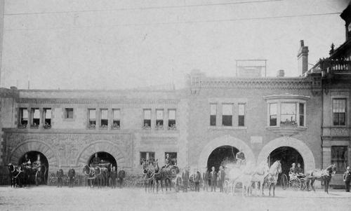 Salt Lake Tribune archive  The old Salt Lake fire station on 1st South.