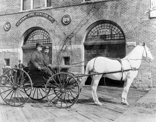 Salt Lake Tribune archive  Salt Lake Central fire station circa 1891.