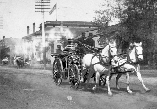 Salt Lake Tribune archive  Fire engine No.1 SLFD circa 1890.