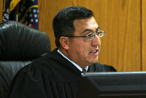 Steve Griffin  |  The Salt Lake Tribune  Judge Darold McDade delivers a sentence of life in prison without the possibility of parole during sentencing hearing for Joshua Petersen who plead guilty, last month to aggravated murder for the April 5 shooting death of his 5-month-old son, Ryker Petersen.