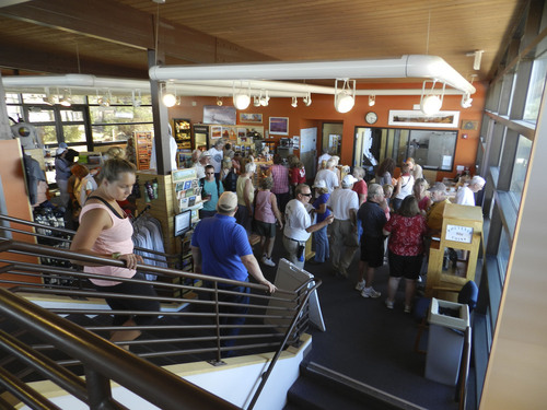 | Courtesy Utah State Parks Visitors have kept the gift shop at Dead Horse Point State Park near Moab busy since nearby Canyonlands National Park was closed as part of the federal government shutdown Tuesday.