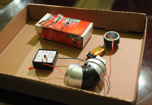 A mock-up of a pipe bomb is displayed during a news conference at City Hall called by Mayor Michael Bloomberg, Sunday, Nov. 20, 2011, in New York. The mock-up represents what authorities believe a homemade bomb would've looked like if its construction had been completed. Bloomberg announced that 27-year-old Jose Pimentel, of Manhattan, a U.S. citizen originally from the Dominican Republic, was arrested Saturday for allegedly plotting to bomb police and post offices in New York City as well as U.S. troops returning home. (AP Photo/Louis Lanzano)