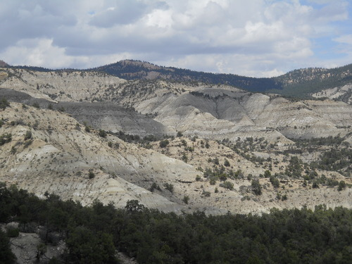 "Raymond M. Alf Museum of Paleontology  |  Courtesy photo The Kaiparowits Formation within Grand Staircase-Escalante National Monument, southern Utah, where the skeleton of ""Joe"" the baby Parasaurolophus was discovered."