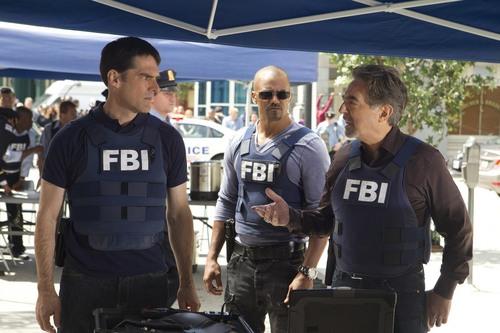 "Courtesy photo Thomas Gibson,Shemar Moore and Joe Mantegna star in ""Criminal Minds."""