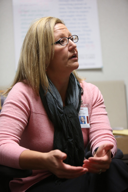 Francisco Kjolseth  |  The Salt Lake Tribune Holli Martinez, director of palliative care at University Hospital, talks about some of the innovations in palliative and end-of-life care she and her staff inplement on a daily basis. Martinez is receiving a prestigious award for her work.