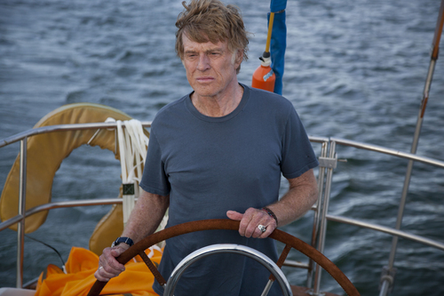"This photo released by Roadside Attractions shows Robert Redford starring in J.C. Chandor's ""All Is Lost."" (AP Photo/Roadside Attractions, Daniel Daza)"