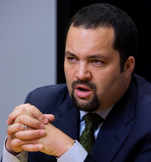 Manuel Balce Cenata | The Associated Press Benjamin Jealous, NAACP president and chief executive officer, spoke Friday in Salt Lake City at the NAACP Salt Lake Branch's annual Life Membership and Freedom Fund Banquet. He is pictured here in a 2009 photo taken in Washington, D.C.