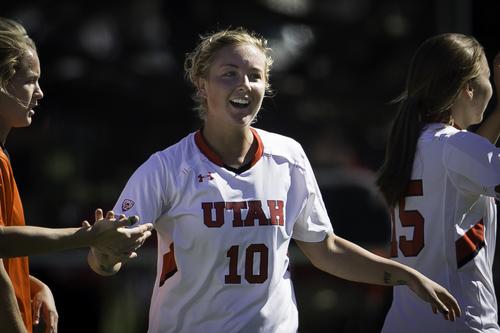 Allie Wisner of the Utah women's soccer team. Courtesy University of Utah