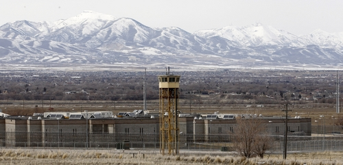 File - This Feb. 19, 2013 file photo shows the Utah State Prison in Draper, Utah. Inmates at the main prison as well as those at the Central Utah Correctional Facility in Gunnison will no longer be able to receive artwork made with crayons or markers or envelopes adorned with decorative stickers because of drug concerns. (AP Photo/Rick Bowmer, File)