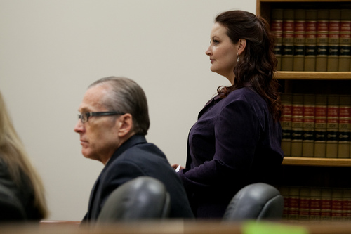 Mark Johnston  |  Pool  Gypsy Willis, who was in an extramarital affair with Martin MacNeill, enters the courtroom during MacNeill's trial at 4th District Court in Provo Tuesday, Oct. 29, 2013. MacNeill is charged with murder for allegedly killing his wife Michele MacNeill in 2007.