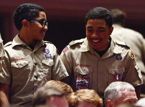 Leah Hogsten     The Salt Lake Tribune The Church of Jesus Christ of Latter-day Saints and the Boy Scouts of America presented an original stage production about the history and values of Scouting. ìA Century of Honorî commemorating the 100-year partnership between the LDS Church and the BSA, Tuesday, October 29, 2014 at the Conference Center.  The program will featured multiple choirs, historical reenactment, dynamic set design, and multiple special effects drawing upon the skills and outdoor experiences that are hallmarks of Scouting.