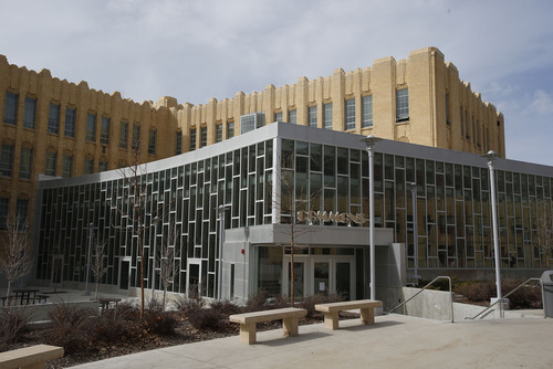Francisco Kjolseth  |  The Salt Lake Tribune Ogden High School, built in the 1930s, has undergone a massive renovation in which great effort was made to maintain its Art Deco style. The commons area has a mix of old and new fused together.