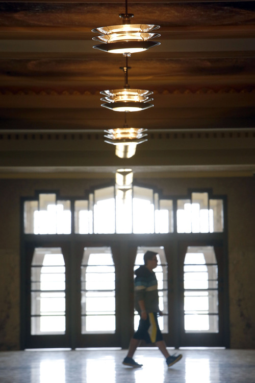Francisco Kjolseth     The Salt Lake Tribune Ogden High School, which was built in the 1930s and has an Art Deco style, underwent a massive internal transformation. In an effort to maintain the historic look of the old school those things that could not be salvaged were replaced with fixtures that matched the originals.