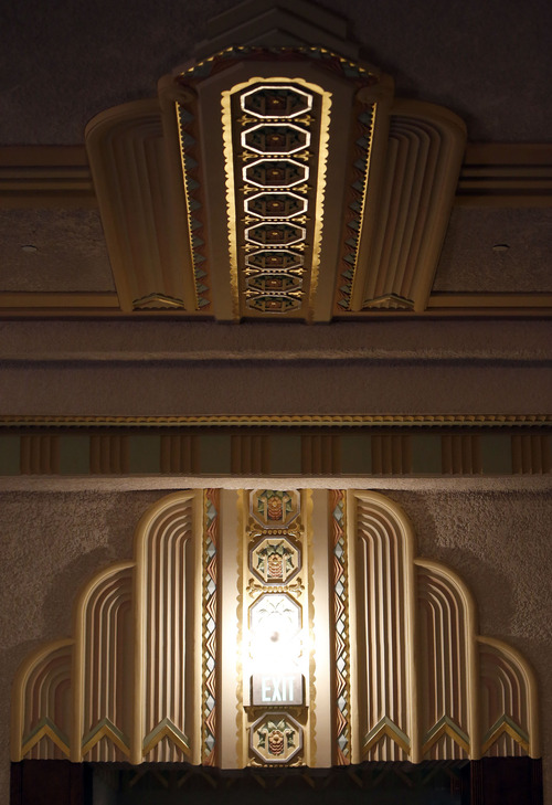 Francisco Kjolseth  |  The Salt Lake Tribune Architects, contractors and school officials have won numerous awards for restoring Ogden High School. The auditorium, which was built in the 1930s and has an Art Deco style. An original palette of 68 colors was painstakingly reproduced and updated to include gold leafing.