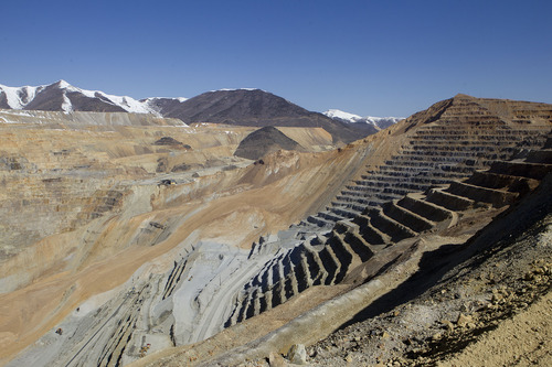 Al Hartmann  |  The Salt Lake Tribune  The land slide area is seen at Kennecott on Thursday, April 25, 2013.