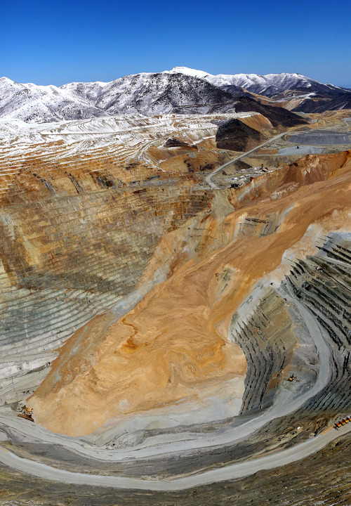 Francisco Kjolseth  |  Tribune file photo Salt Lake County's sales-tax receipts in June were down 3.4 percent less from the same month a year earlier, with financial officials attributing the decline in part to a massive landslide April 10 that shut down most active mining activity at Kennecott's Bingham Canyon Mine.