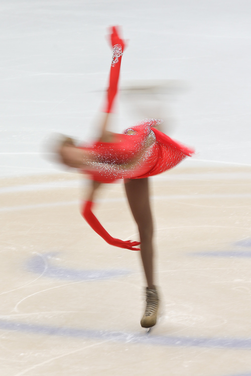 Russia's Anna Pogorilaya performs in the ladies short program at the Cup of China ISU 2013 Grand Prix of Figure Skating in Beijing, Friday, Nov. 1, 2013. (AP Photo/Alexander F. Yuan)