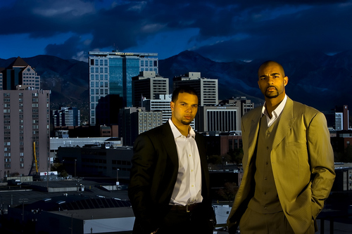 Tribune file photo  Utah Jazz's Deron Williams and Carlos Boozer pose for a portrait.