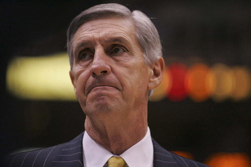 Tribune file photo  Jerry Sloan coaches a game against the Pistons in 2004.