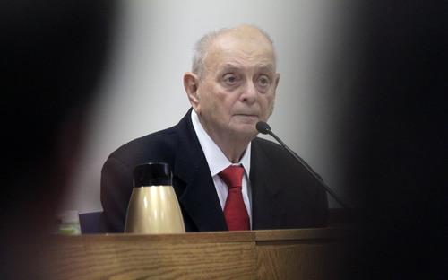 Al Hartmann  |  The Salt Lake Tribune Dr. Joshua Perper, a forensic pathology expert gives testimony in the Martin MacNeill murder trial in Judge Derek Pullan's 4th District Court in Provo, Utah, Friday, Nov. 1., 2013.