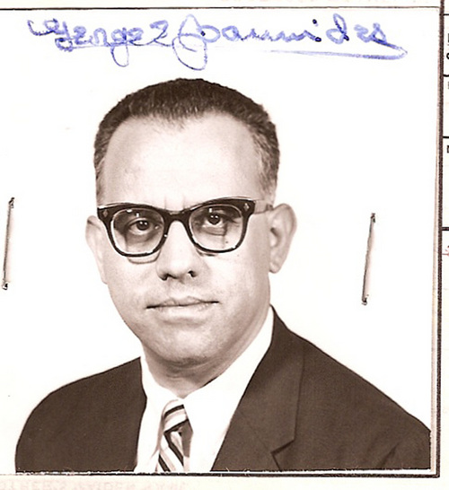 This undated photo from the U.S. State Department obtained by Jefferson Morley, a former Washington Post reporter and author, shows a passport photo of Central Intelligence Agency Agent George Joannides. Fifty years after President John F. Kennedy's assassination, several hundred still-classified pages from government files concern the deceased CIA agent, whose activities just before the assassination and during a government investigation years later, have tantalized researchers for years. (AP Photo/U.S. State Department via Jefferson Morley)