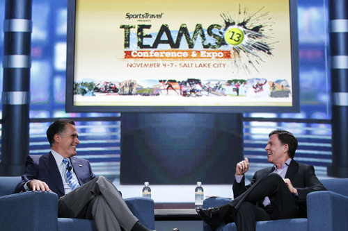Tyler Kaufman | Courtesy TEAMS Conference Opening General Session of the TEAMS Conference with Mitt Romney and  Bob Costas at the Salt Palace on Tuesday.