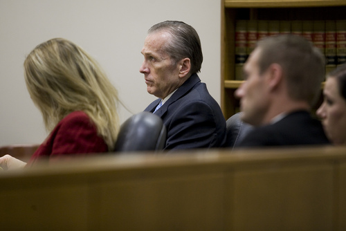 Martin MacNeill looks on during testimony at his trial at the Fourth District Court in Provo Tuesday, Nov. 5, 2013. MacNeill is charged with murder for allegedly killing his wife Michele MacNeill in 2007.  MARK JOHNSTON/Daily Herald