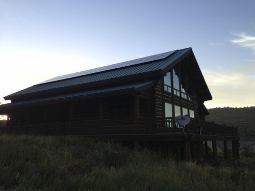 New solar panels sit on Roger Crawford's Park City home in 2013. Photo courtesy Roger Crawford.