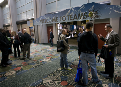 Rick Egan  | The Salt Lake Tribune   The TEAMS trade show kicked off today at the Salt Palace Convention Center, in Salt Lake City, Wednesday, November 6, 2013.
