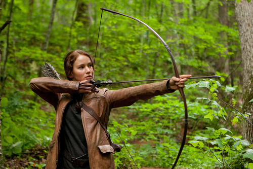 """Courtesy photo Jennifer Lawrence is Katniss Evergreen in the movie, """"The Hunger Games."""" Thanks to the popularity of the movie, archery has experienced an explosion of popularity in the last 18 months. Lawrence, who appears as the character in the upcoming sequel, """"Catching Fire,"""" will be using a bow made by Salt Lake City-based Hoyt Archery."""