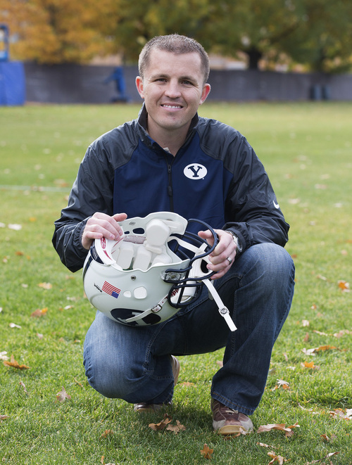 | Courtesy BYU BYU student Jake Merrell created a smart foam that can be inserted into football helmets to measure the impact of hits.