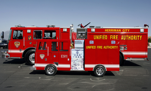Rick Egan  |  Tribune file photo The Unified Fire Authority has responded to 13 calls for service at the Utah Data Center in 2013.