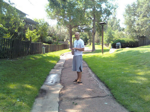 Courtesy of the Scott family Football prep football star Brian Scott of St. George stands outside his apartment in Colorado Springs. Scott, now 20, relocated to Colorado this summer to pursue an alternative treatment for his leukemia, a cannabis oil.