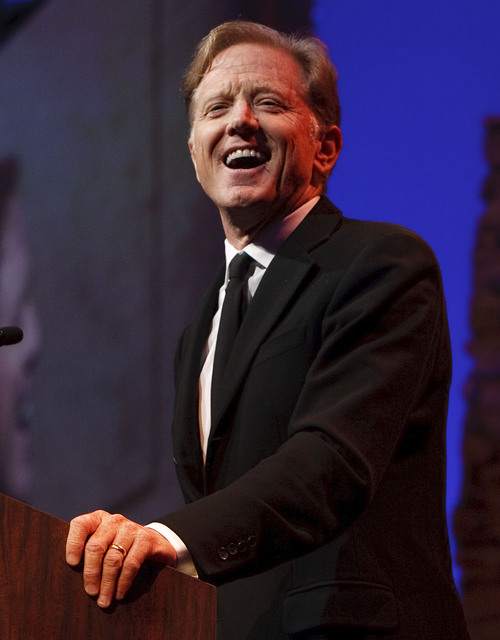 "Leah Hogsten  |  The Salt Lake Tribune Jamie Redford laughs as he tells funny stories about his father, Robert Redford. For all his contributions to the state of Utah, Robert Redford was recognized and honored by Governor Gary Herbert at a gala in his honor, ""The Governor's Salute to Robert Redford: A Utah Tribute to an American Icon"" at the Grand America Hotel, Saturday, November 9, 2013. Redford is an actor, director, producer, philanthropist, businessman, environmentalist, and founder of the Sundance Resort, the Sundance catalog, and the Sundance Institute which hosts the Sundance Film Festival."