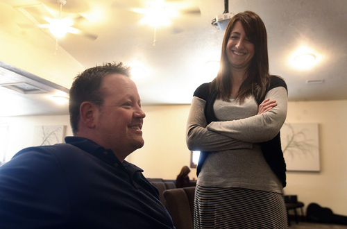 Scott Sommerdorf   |  The Salt Lake Tribune Former Utah lawmaker Carl Wimmer and his wife, Sherry, talk just before Sunday services at Ephraim Church of the Bible on Sunday, Oct. 27, 2013. Former Mormons, the Wimmers now attend this small nondenominational Christian church.