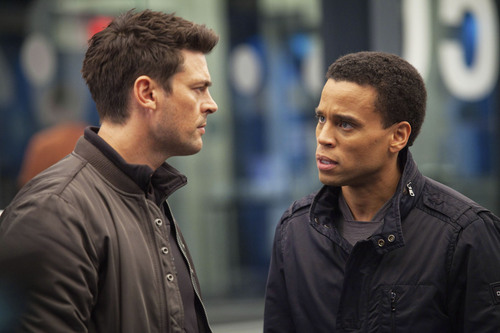 "Courtesy photo Karl Urban and Michael Ealy star in Fox's ""Almost Human."""