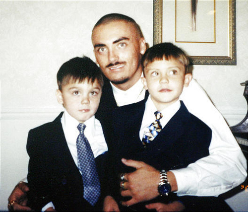 Weldon Angelos and his sons Jesse and Anthoney Angelos. Courtesy photo