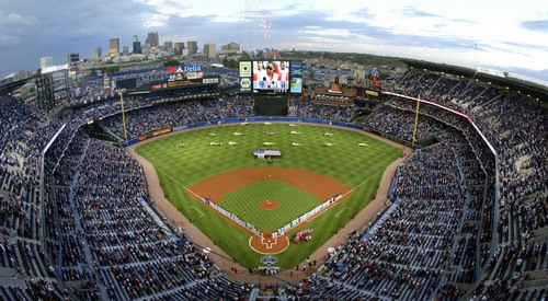 | AP file photo  Major League Baseball owners on Thursday, Nov. 14, 2013, voted to move ahead with a vast expansion of instant replay next season. Shown here, Atlanta's Turner Field.