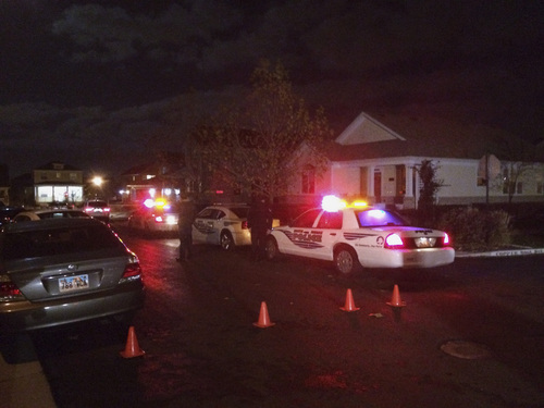 Michael Mangum | Courtesy Police cars respond to an incident in the Daybreak community on Friday night.