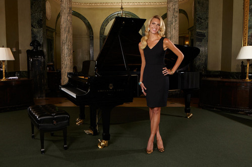 Courtesy photo Mary Anne Huntsman wearing a Project Gravitas dress photographed at Steinway Hall.