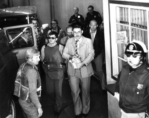 | Tribune File Photo Joseph Paul Franklin in bullet proof vest.